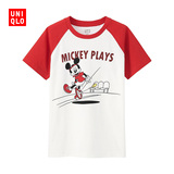 童装/男童 (UT) Mickey plays 印花T恤 169829 优衣库UNIQLO