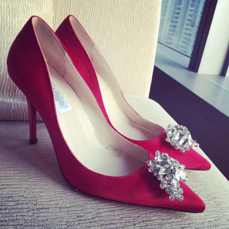 jc高跟鞋细跟 婚鞋 女