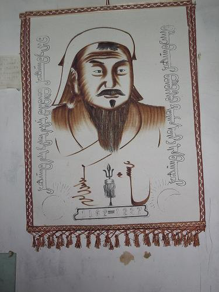 蒙古族特色装饰画图片