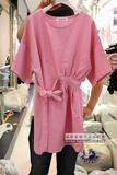 韩国代购孕妇装东大门进口2016夏季时尚系带收腰显瘦孕妇连衣裙