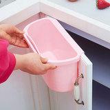 飞达三和厨房台面桌面垃圾桶橱柜门挂式垃圾盒灶台收纳桶带手柄