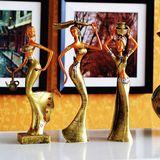 民族风情 家居装饰摆件 树脂工艺品摆设 人物摆件 傣族少女系列