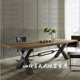 美式loft工业风格家具做旧铁艺餐桌实木办公桌咖啡桌电脑桌书桌