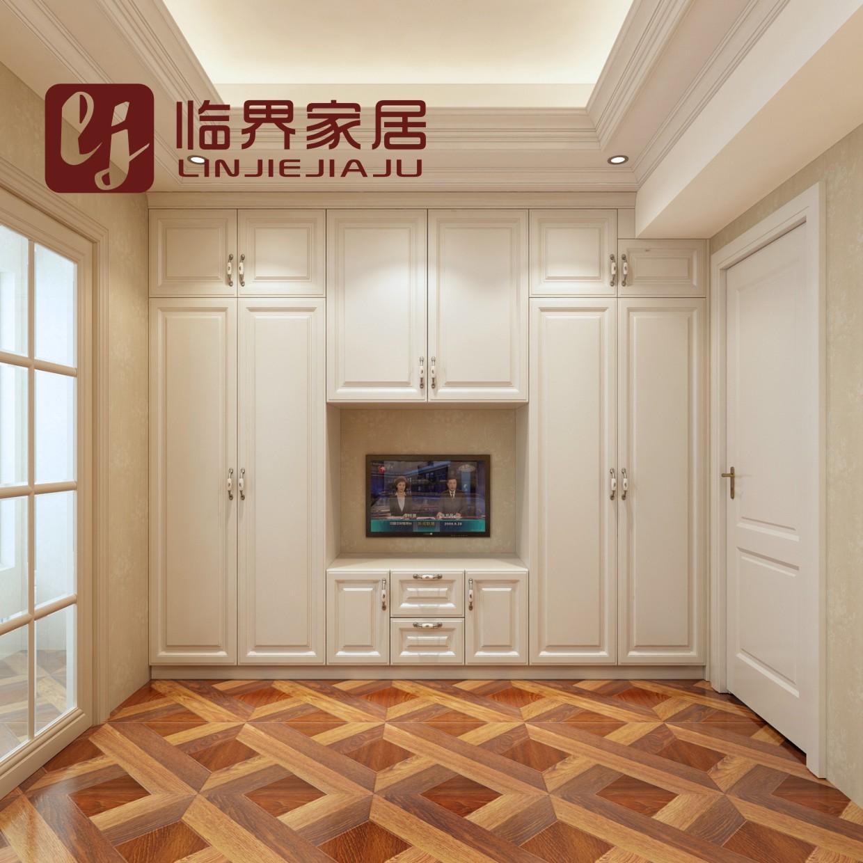 重庆定做衣柜整体定制模压吸塑门板柜子定制欧式田园风格卧室衣柜图片