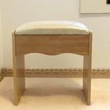 现代简约实木梳妆凳化妆台凳子梳妆台凳子椅子美甲桌凳子软包矮凳