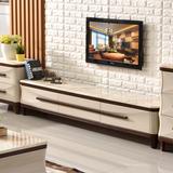 电视柜茶几组合套装现代简约地柜地中海矮柜子大理石客厅成套家具