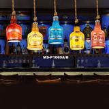 美式创意复古酒吧吧台树脂酒瓶单头吊灯网咖咖啡厅餐厅艺术个性灯