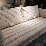 北欧宜家沙发垫布艺纯棉简约现代四季坐垫靠背巾防滑欧式外贸包邮