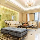 欧式新古典沙发简欧实木沙发组合现代客厅皮艺沙发别墅样板房家具