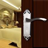 房间门锁单舌无钥匙室内房门木门锁浴室卧室厕所房间不锈钢锁