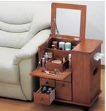 特价包邮促销实木多功能化妆台镜床头柜梳妆桌实木化妆台首饰柜
