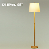 摩灯全铜落地灯美式乡村简约复古客厅餐厅书房卧室灯欧式田园灯具