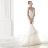 婚纱礼服新款2016夏季新娘一字肩露背长拖尾性感奢华韩式显瘦鱼尾