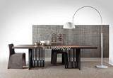 LOFT美式乡村工业风复古实木餐桌设计师办公桌铁艺工作台会议桌