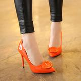 2016甜美春夏新款防水台超细跟高跟鞋性感尖头OL浅口鞋时尚女单鞋