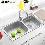 JOMOO九牧水槽厨房304不锈钢水槽套餐洗菜盆厨盆加厚双槽A0641