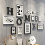 照片墙相框墙客厅现代简约相片墙餐厅实木相框挂墙创意组合照片墙