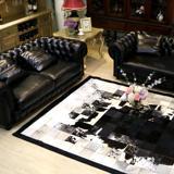 进口天然牛皮毛真皮拼接地毯卧室客厅书房别墅会议室高端真皮地毯
