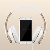 苹果iphone4s 5c 5s 6 plus iPad重低音头戴式手机线控耳机带耳麦