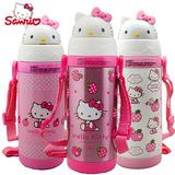 正品Hello Kitty凯特猫儿童不锈钢吸管杯小学生防漏保温水杯礼品