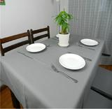 纯色灰色桌布圆桌布酒店桌布茶几布仪器罩长方形纯棉布艺简约包邮