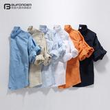 春夏季男士休闲纯亚麻白衬衫男装大码修身纯色长袖棉麻料衬衣薄款