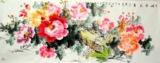 小六尺横幅国画花鸟字画牡丹王秀特价手绘原稿名家真迹160508602