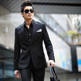品牌西服套装男士韩版修身休闲西装男 青年商务职业正装新郎礼服