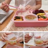 饭盒多功能密封学生微波炉分格双层带盖餐盒创意塑料可爱日式便当