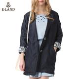商场代购ELAND衣恋15年中长款牛仔夹克外套EEJJ51251B专柜正品