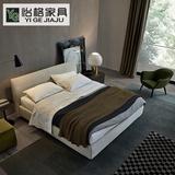 布艺床可拆洗 双人床现代简约北欧布床1.5米 软体床1.8米婚床特价