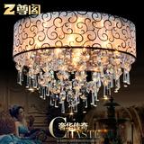 尊阁led欧式卧室吸顶灯圆形客厅水晶灯简约温馨书房餐厅灯具创意