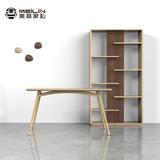 全实木橡木书架原创家居创意家具设计自由组合多格钢木置物层架