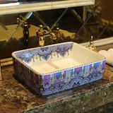 新品热卖 景德镇陶瓷长方形艺术台盆面盆台上盆洗脸盆洗手盆6060
