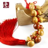 天然桃木小葫芦挂件纳福 特色中国传统手工艺小礼品 家居挂件挂饰
