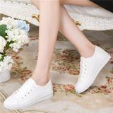 春夏季白色帆布鞋女韩版潮休闲鞋板鞋小白鞋平底布鞋平跟女鞋球鞋