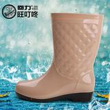 正品回力女款中筒雨靴时尚雨鞋防滑防水胶鞋中筒水鞋橡塑劳保套鞋
