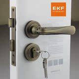 德国EKF门锁 欧式青古铜室内房门锁 分体田园美式仿古门锁