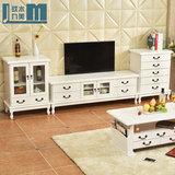 电视柜简约现代实木电视机柜茶几组合套装大小户型客厅储物柜整装