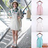 背带裙女夏季韩版甜美小清新粉色短裙女学院学生糖果色显瘦连衣裙