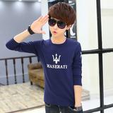 男士长袖T恤 2016春秋季青少年小衫男韩版修身学生潮流打底上衣服