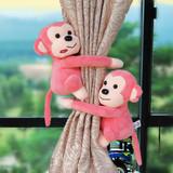 新款创意卡通可爱歪头猴子窗帘扣 窗帘绑带 家居装饰窗帘夹一对