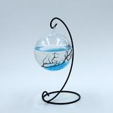 创意悬挂铁架玻璃鱼缸 水培玻璃吊瓶 婚庆装饰品 创意家居工艺品