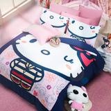 简约韩式卡通公主KT凯蒂猫亲肤棉床上用品加厚保暖磨毛四件套秋冬
