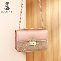Gold Fox small CK senior sense small bag handbags new 2019 tide foreign fashion wild messenger bag chain bag