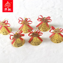 Hua Chi 5.5cm Christmas bell pendant christmas tree pendant window pendant two colors optional