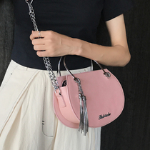 Fairy Bag Woman 2018 New Korean version of the trend SU chain single-shoulder handheld saddle bag scrub slant carry female bag