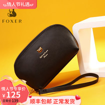 Gold Fox dinner party clutch female 2019 new tide bag leather fashion wild ladies can put mobile phone handbag