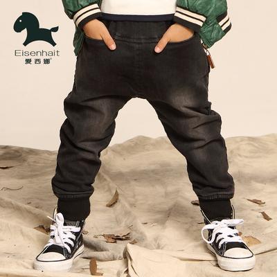 儿童加绒牛仔裤