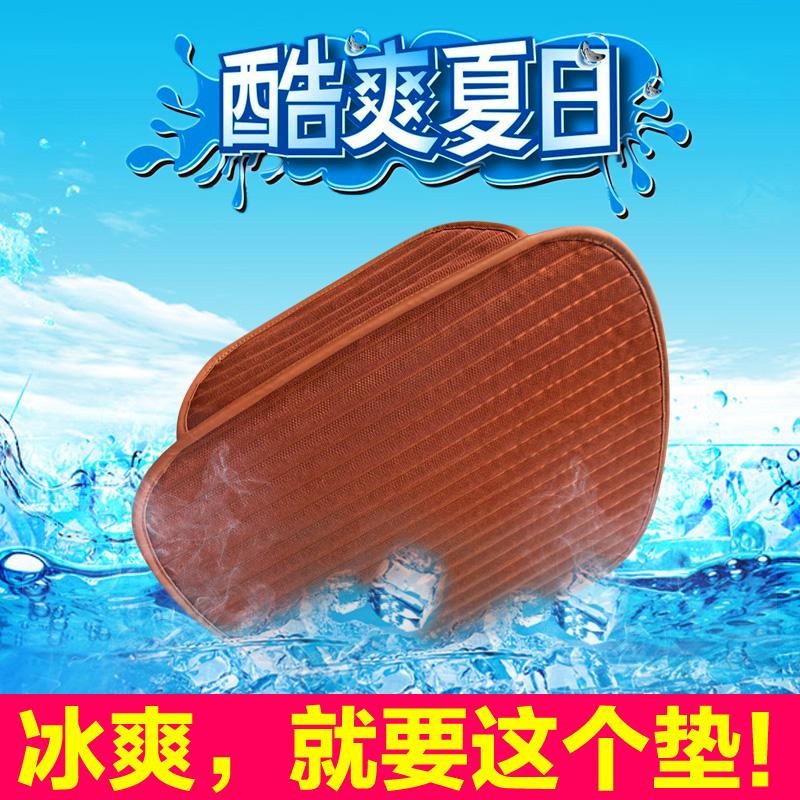 印象江南旗舰店|这款坐垫采用冰点亮丝材料,透气性非常好,中间填充物是决明子,